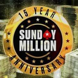 Pokerstars Sunday Million Celebrates 15 Years With $12.5M GTD